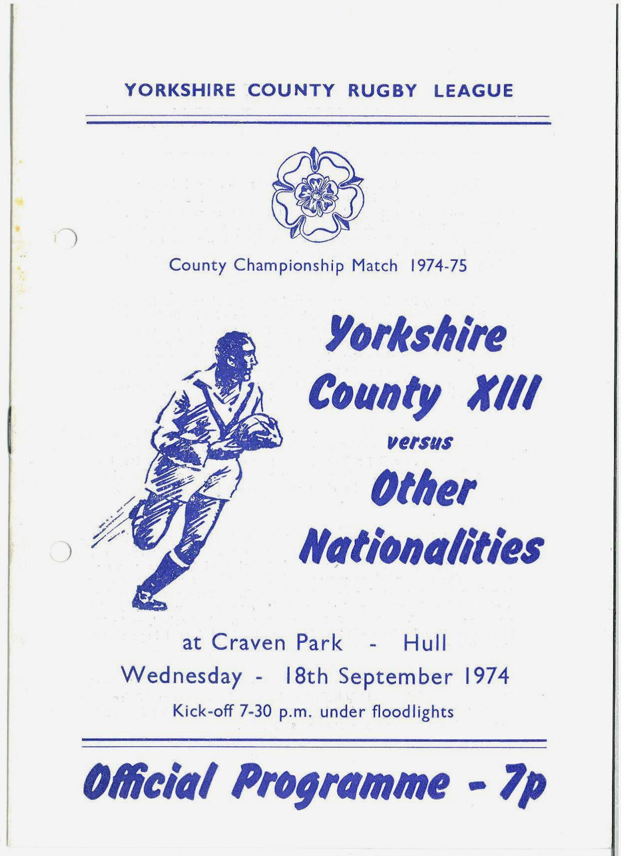 programme for Yorkshire day