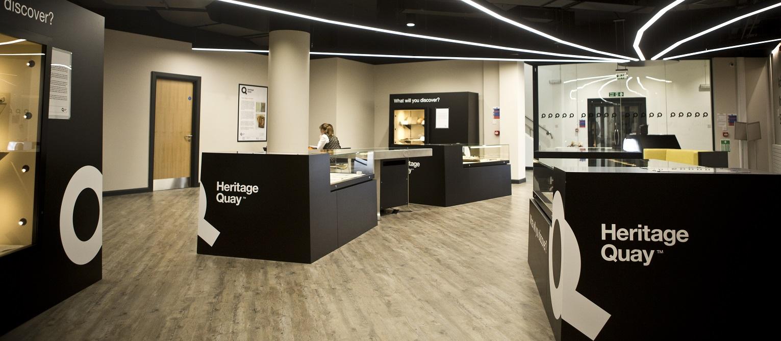 Heritage Quay exhibition space