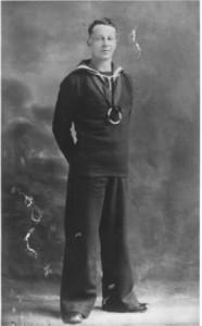 JPW Mallalieu as naval seaman, c1942