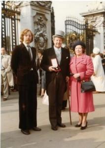 JPW Mallalieu after receiving his knighthood at Buckingham Palace, 3 Nov 1979