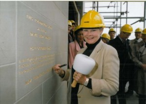 Dame Judi Dench lays foundation stone of Lawrence Batley Theatre, 11 September 1993