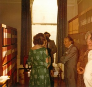 Sir Lennox Berkley at the British Music Information Centre, 1980s.