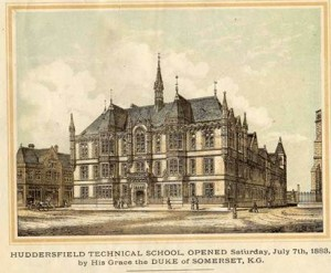 Image of Huddersfield Technical School, opened 7 July 1883