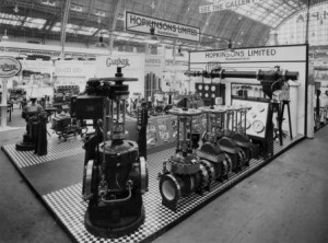 Industry. Hopkinsons Shipping, Engineering & Machinery Exhibition, Olympia 1935
