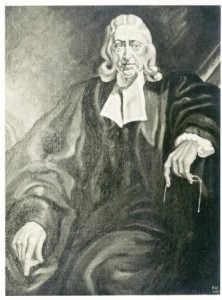 Print of a painting of John Wesley by Frank Salisbury, c1932.