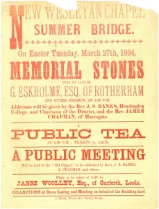 Summer Bridge Chapel, Easter Tuesday 1894 meeting poster