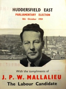 JPW Mallalieu, General Election leaflet, 1959.