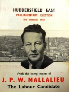 JPW Mallalieu, General Election leaflet, 1959.