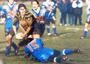 A photograph of women's Rugby League, c1990s-2000s, which we are keen to identify. Can you help?