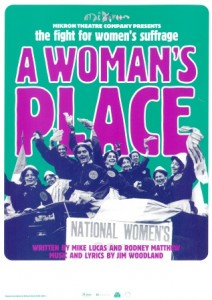 Mikron Theatre Company production poster for A Woman's Place, 2003