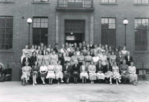 Midwifery students, Ruby Ward Archive, c1940s.