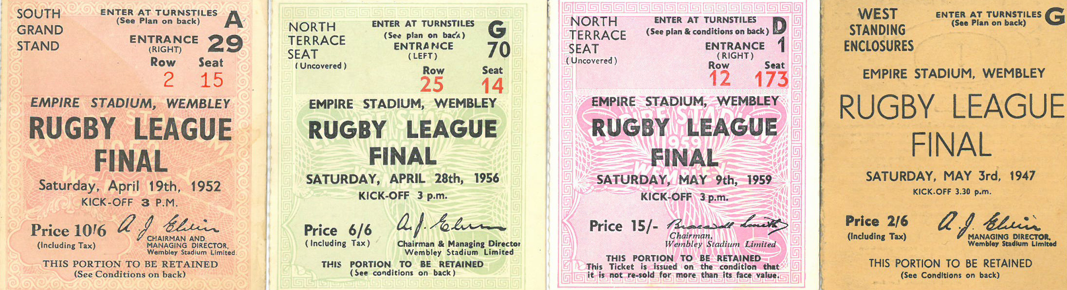 Rugby League final tickets various