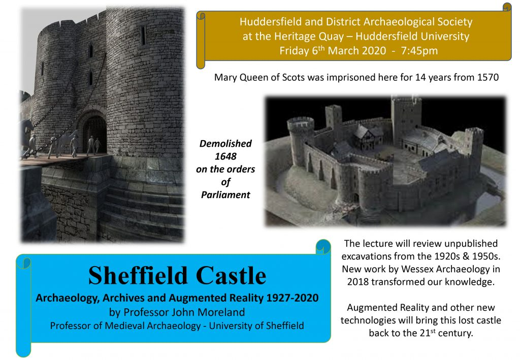 Flier for Huddersfield and District Archaeology Society Lecture