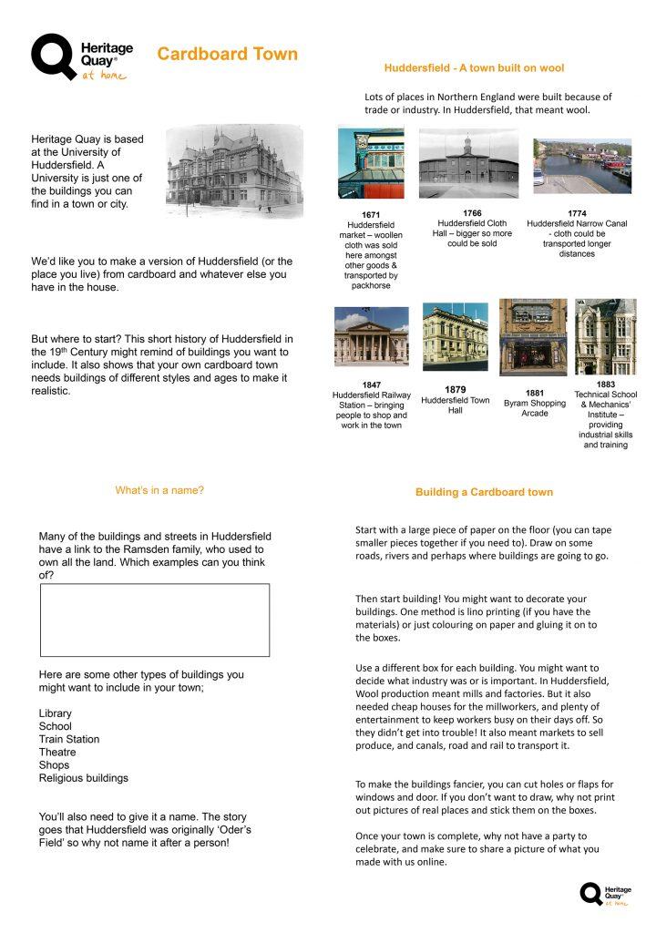 Create a Cardboard town instructions. If you want the original text instead of an image please get in touch