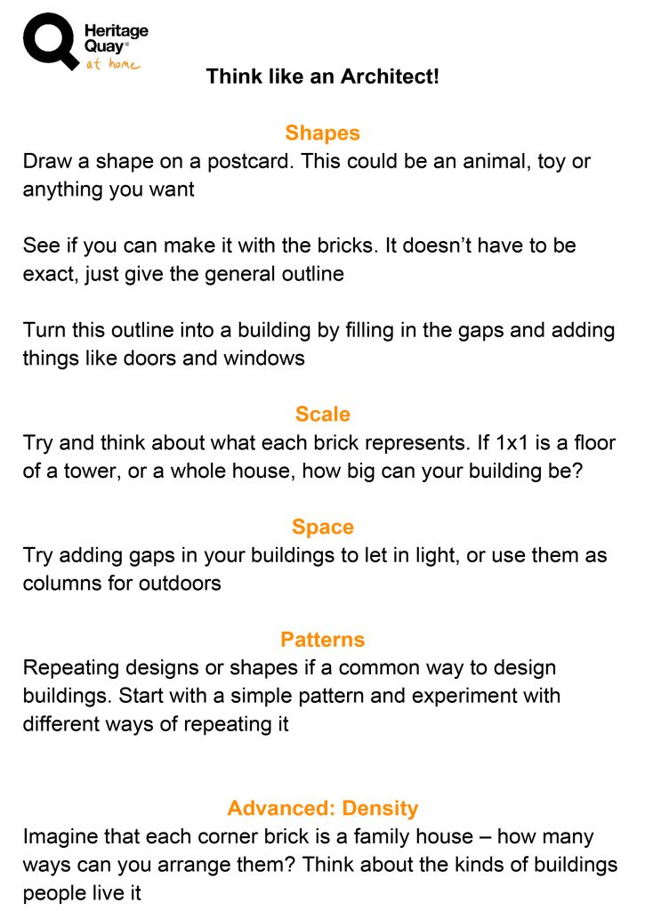 Think like an Architect instructions. If you want the original text instead of an image please get in touch